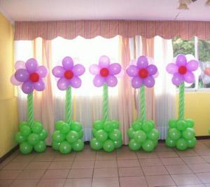 Salones de eventos for Decoracion para pared con globos